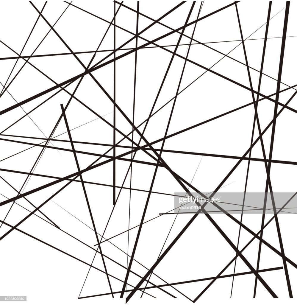 Random chaotic lines abstract geometric pattern / texture. Modern, contemporary art-like illustration