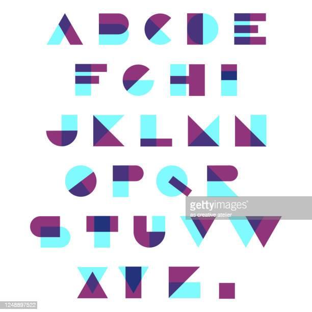 ilustraciones, imágenes clip art, dibujos animados e iconos de stock de alfabeto de color aleatorio - abc