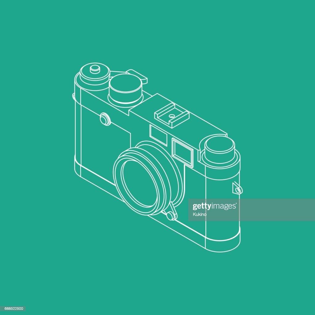 Range Finder Camera Vector Illustration VOL.03