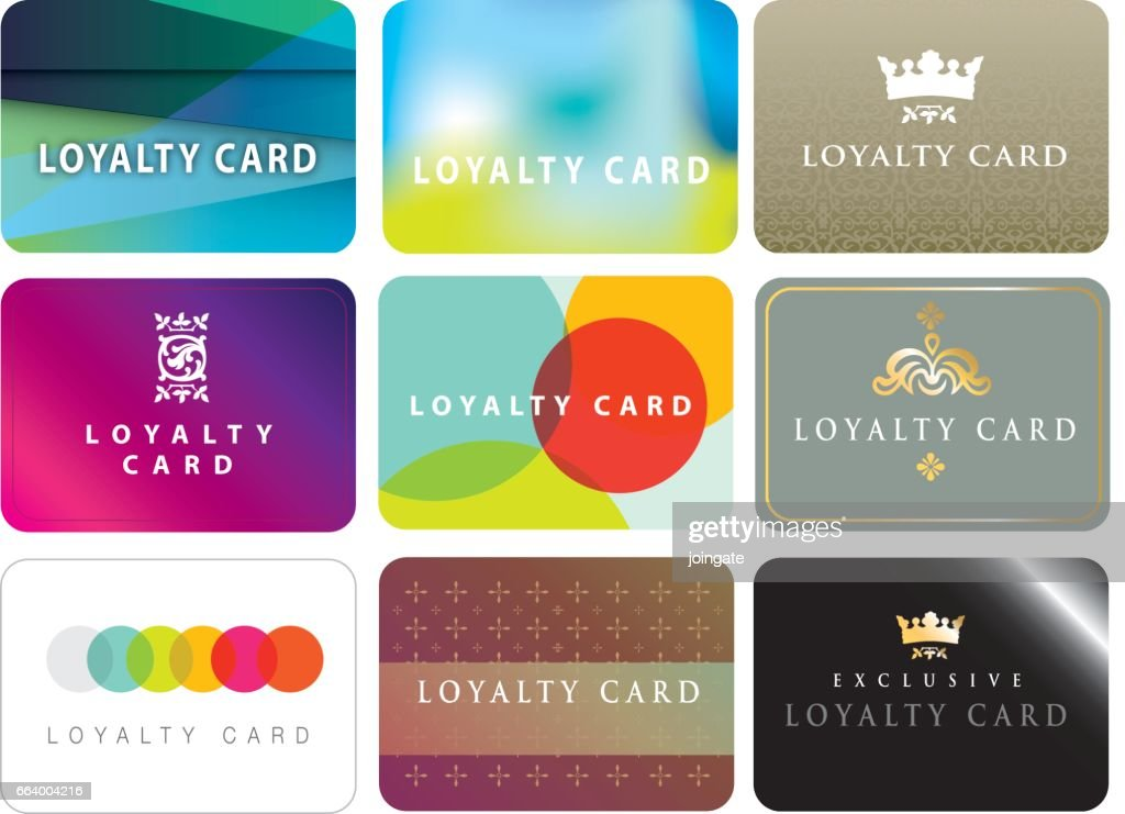 Range of ideas for store loyalty cards