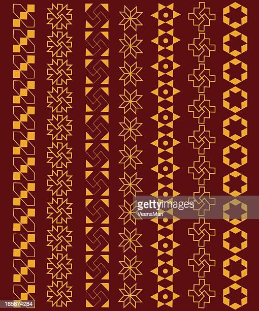 rangoli border design. - music style stock illustrations, clip art, cartoons, & icons