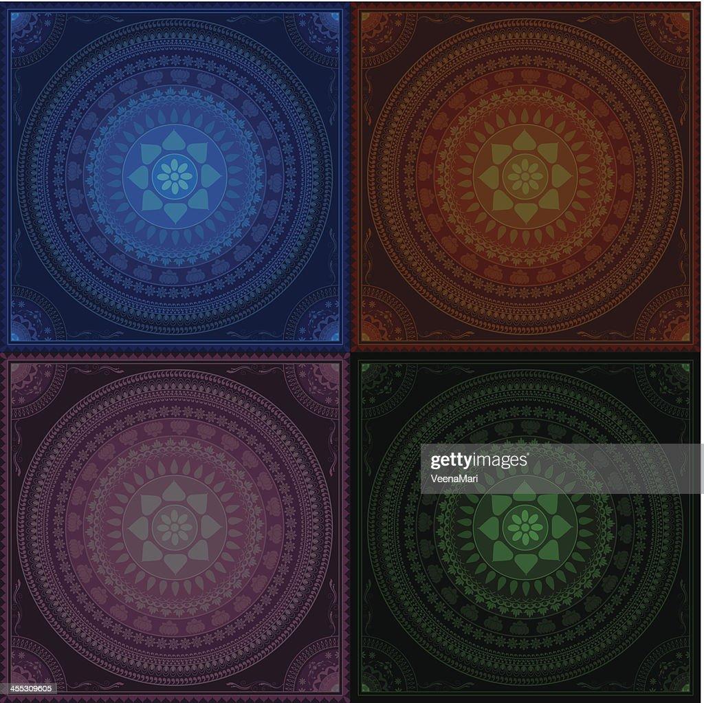 Rangoli Fliesen Hintergrund Vektorgrafik | Getty Images