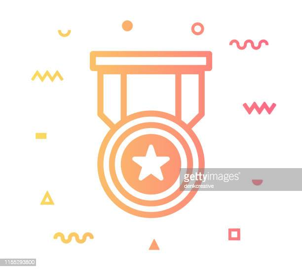 ranking line style icon design - officer military rank stock illustrations