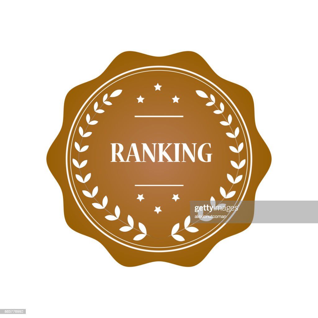 Ranking stamp illustration