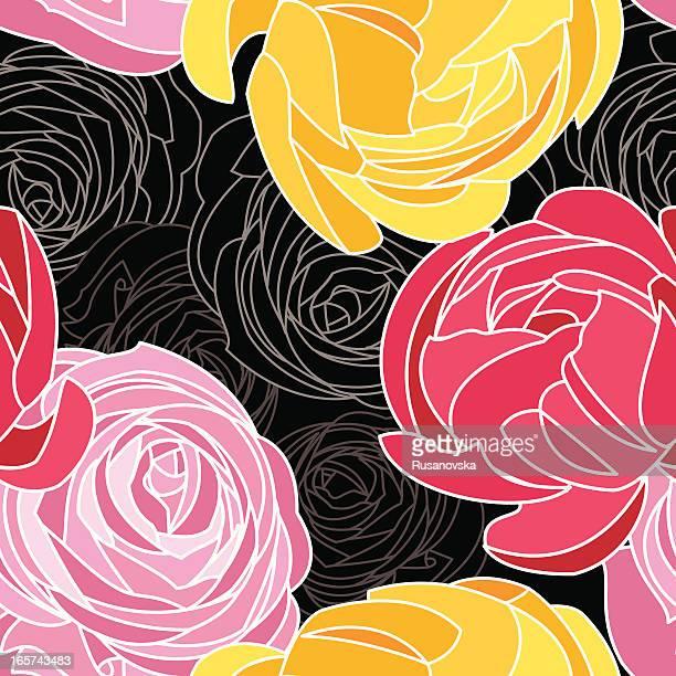 Ranunculus Floral Pattern
