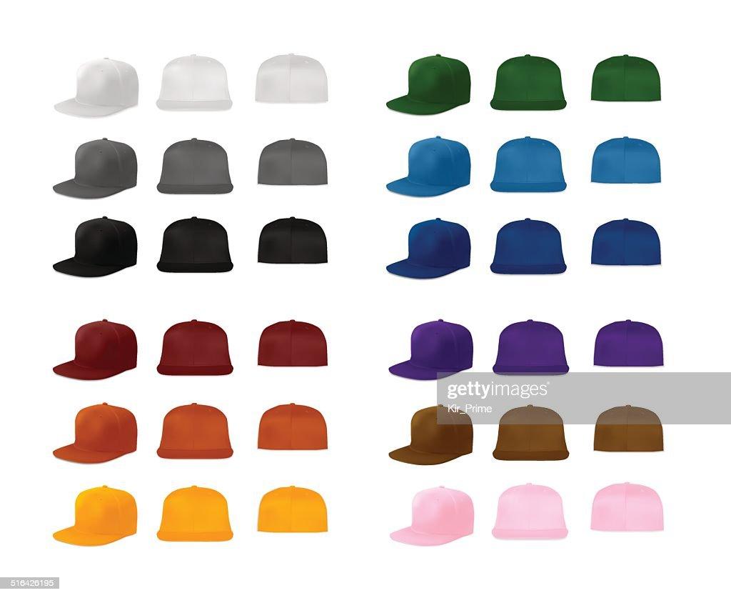 Rap cap template set