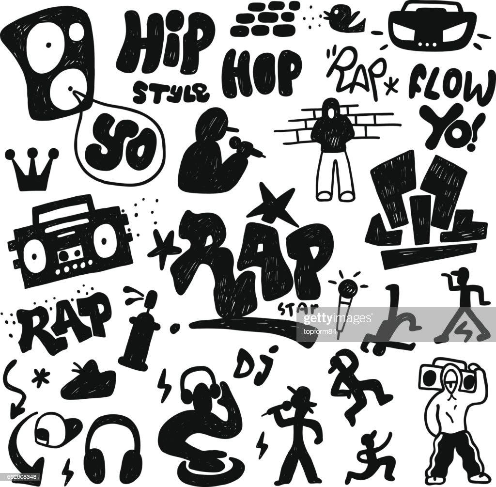 rap doodle set