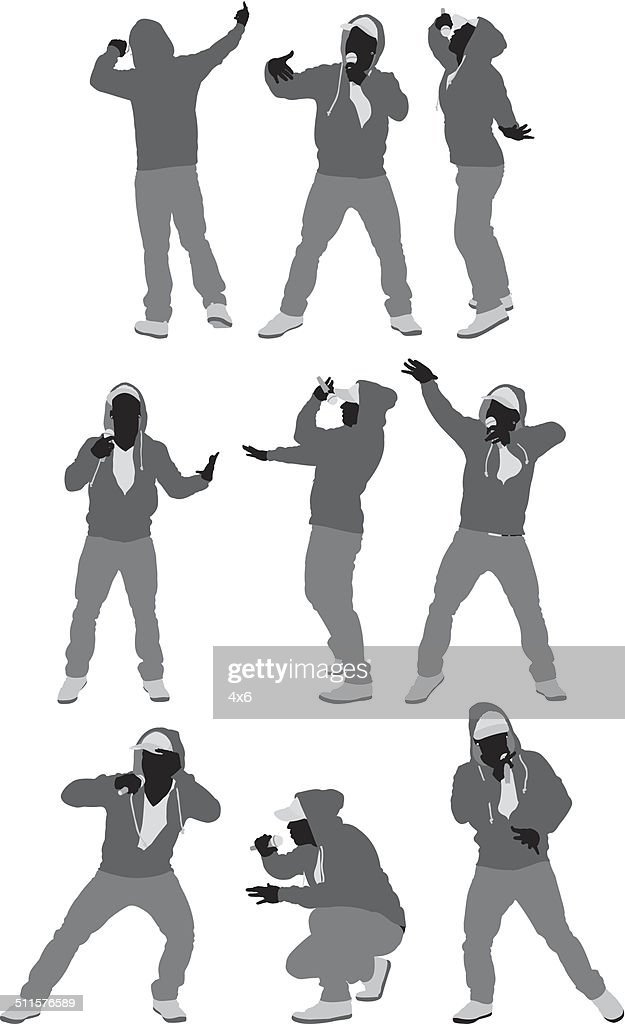 Rapper in various poses