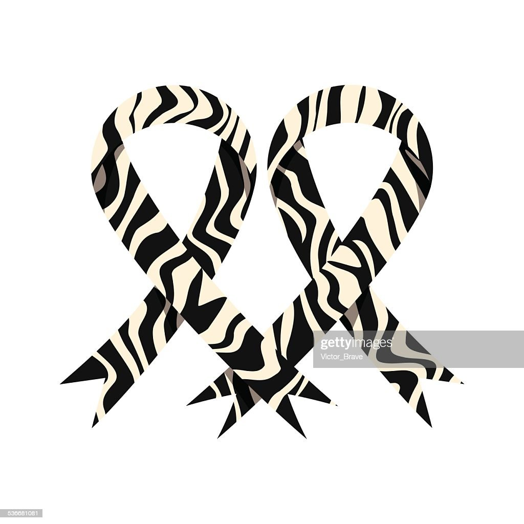Rare diseases awareness ribbon