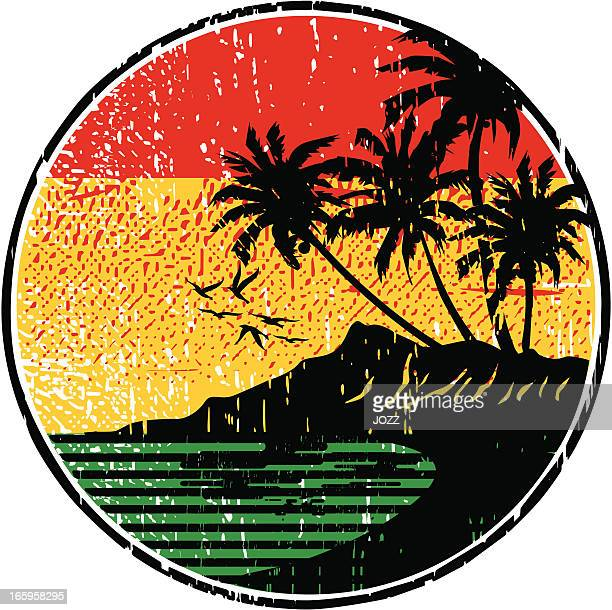 rasta island - jamaica stock illustrations