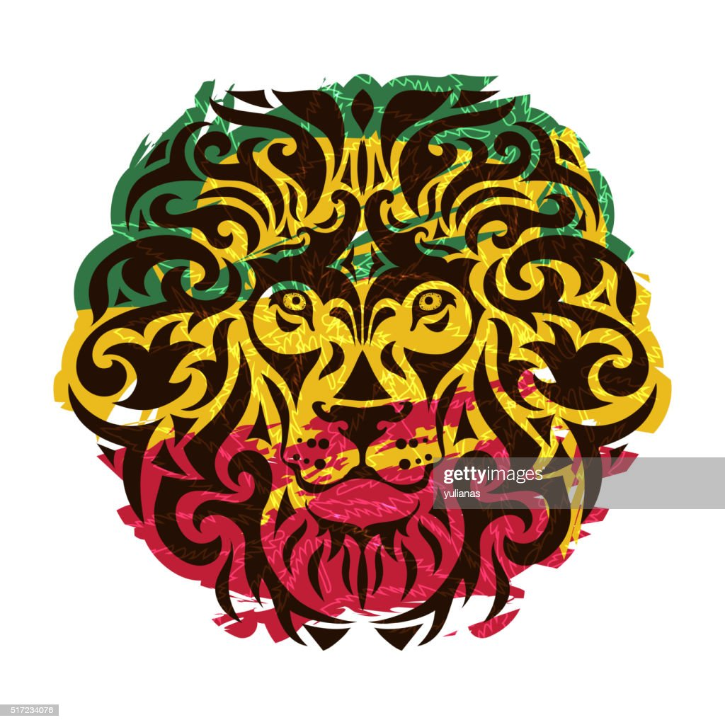 rasta lion vector