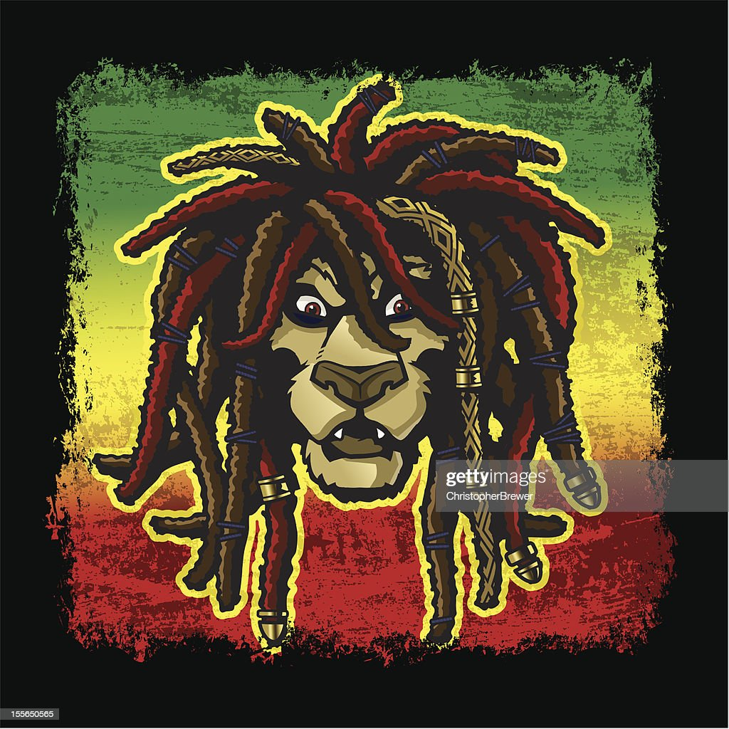Rasta Lion with dreadlocks