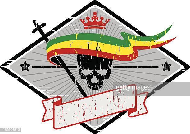 ilustrações de stock, clip art, desenhos animados e ícones de rasta crânio unido - reggae