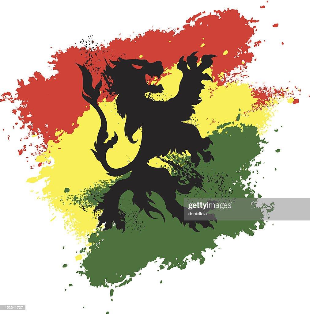 Rastafarian grunge lion