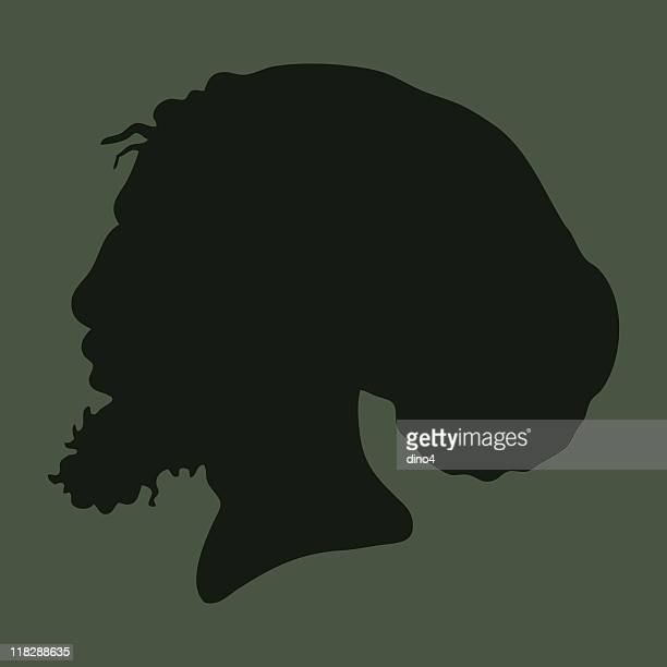 rastahead - jamaican culture stock illustrations, clip art, cartoons, & icons