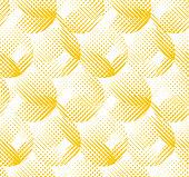raster effect yellow geometric seamless pattern.