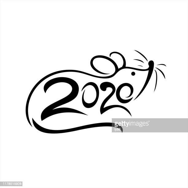 rat papercut, year of the rat, 2020, happy new year, chinese new year - prosperity stock illustrations
