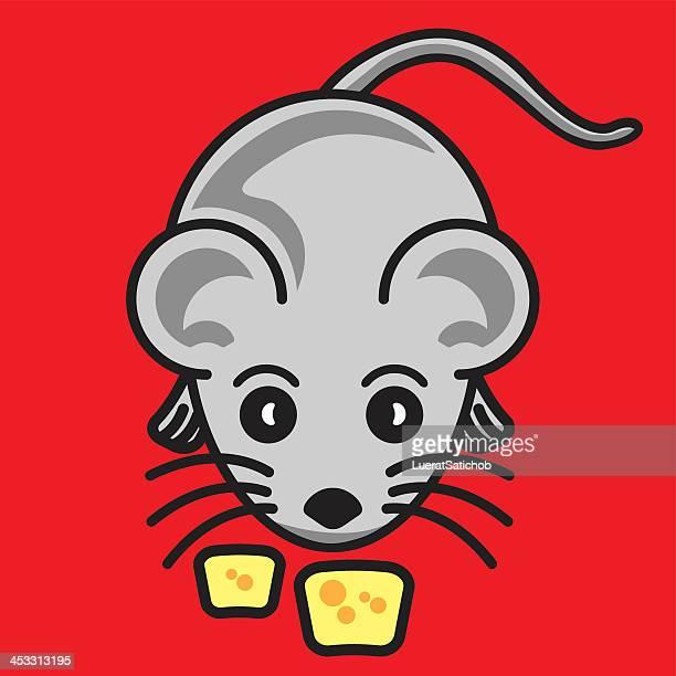 rat 、チーズ-イラストレーション - named animal点のイラスト素材/クリップアート素材/マンガ素材/アイコン素材