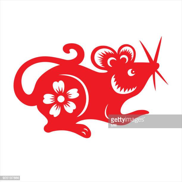 rat, zodiac sign - chinese zodiac sign stock illustrations, clip art, cartoons, & icons