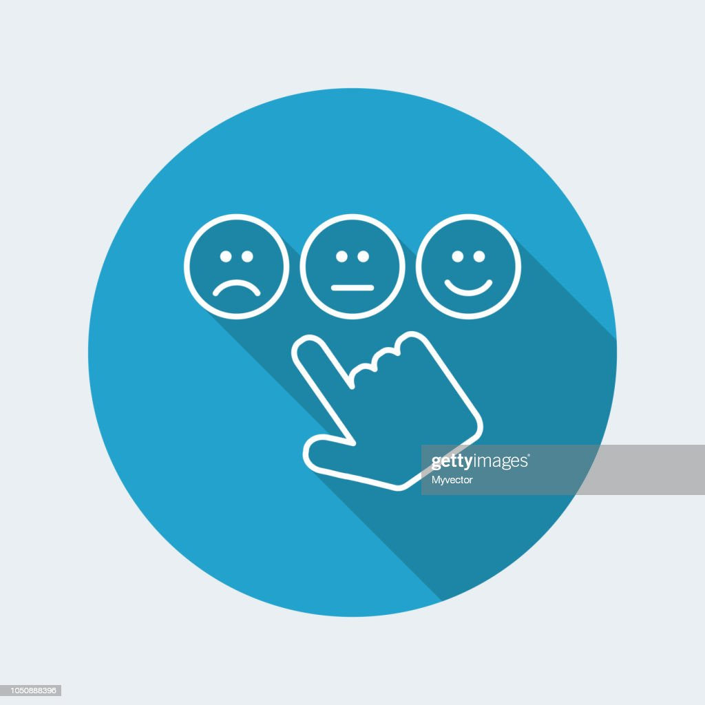 Rating smiley icon - Thin series