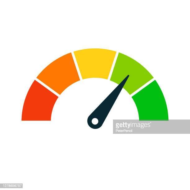 評価速度計アイコン - ベクトルストック図 - 計量器点のイラスト素材/クリップアート素材/マンガ素材/アイコン素材