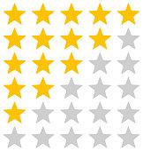 Rating Stars Illustration On White Background