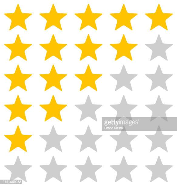 rating stars illustration on white background - rating stock illustrations