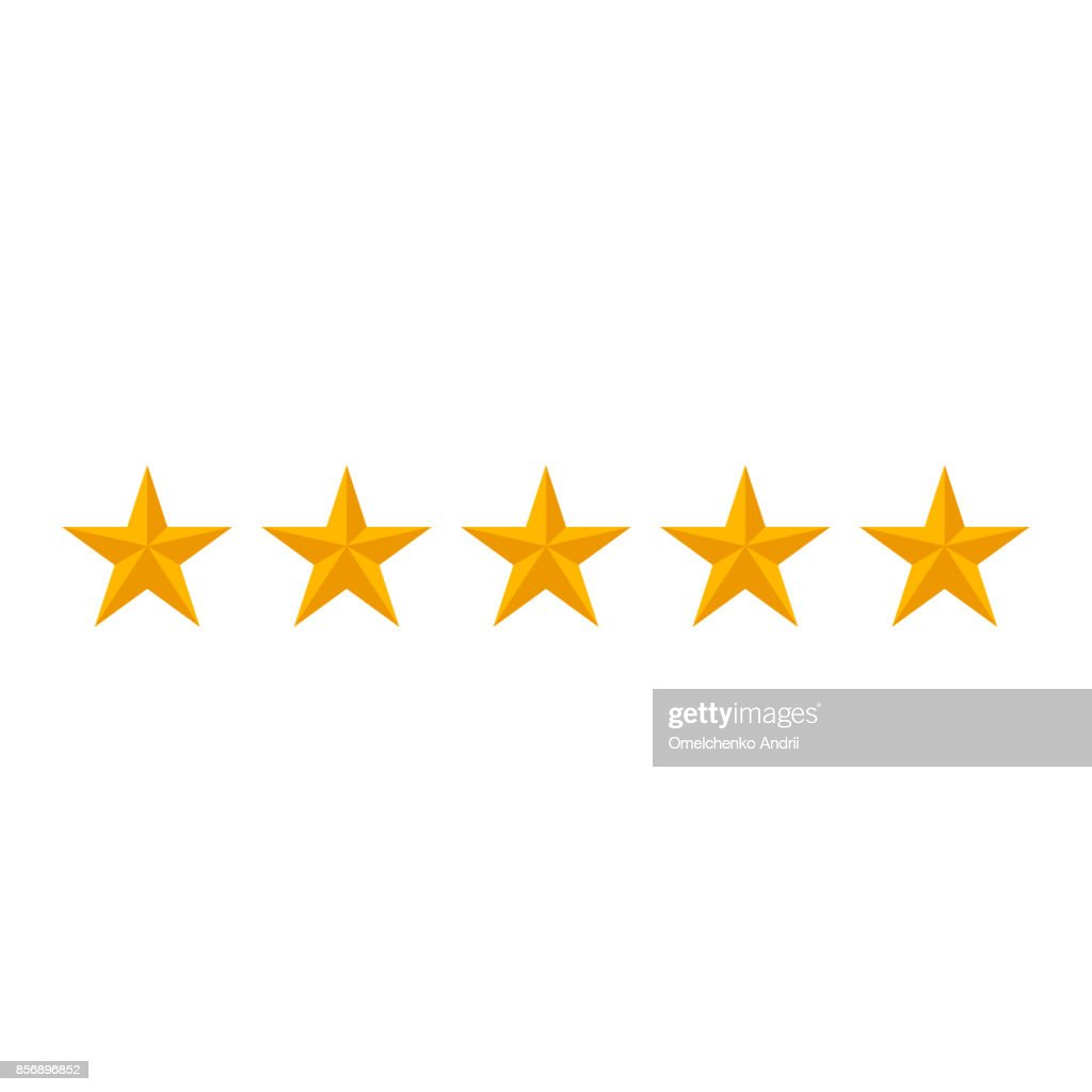 rating stars isolated on white background