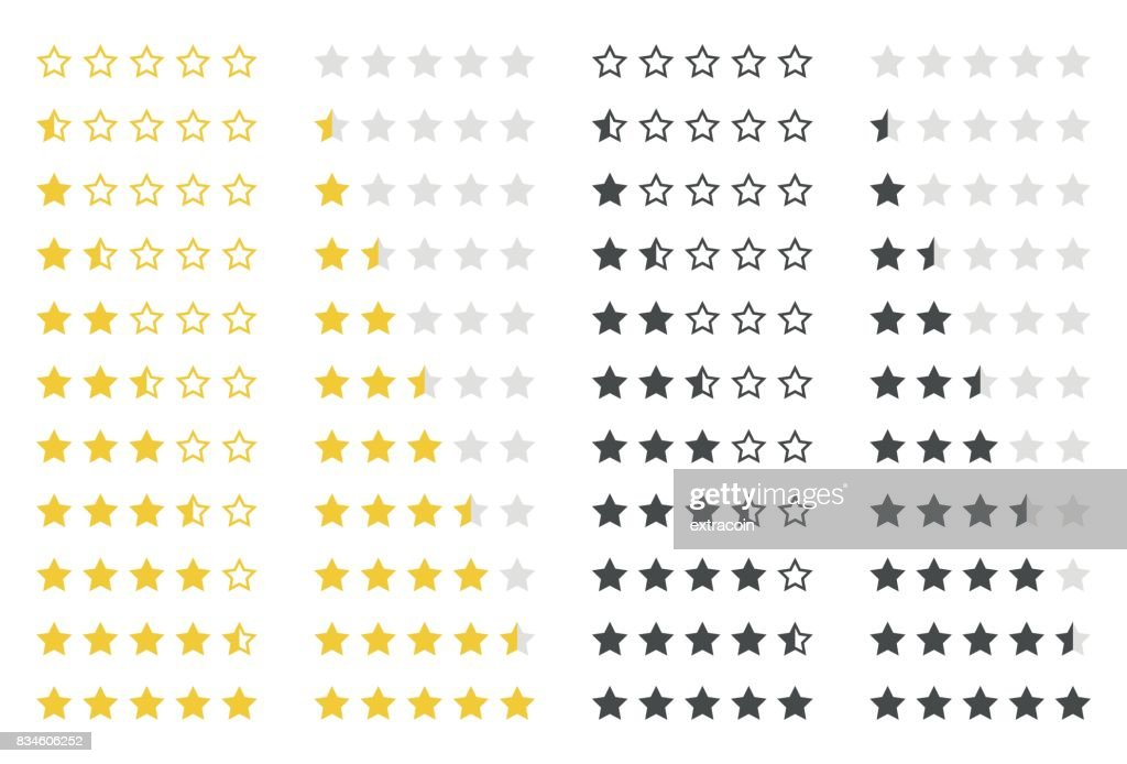 rating stars set