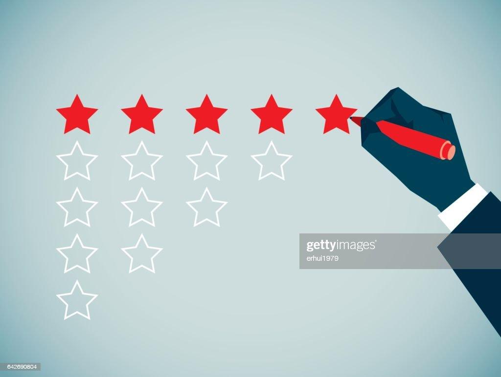 Rating : stock illustration