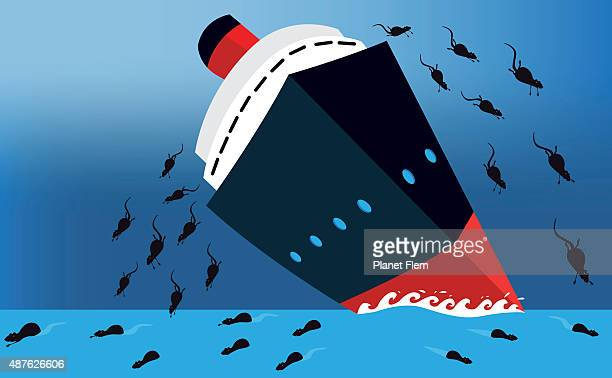 Ratos, deixando um navio prestes a naufragar como continuou