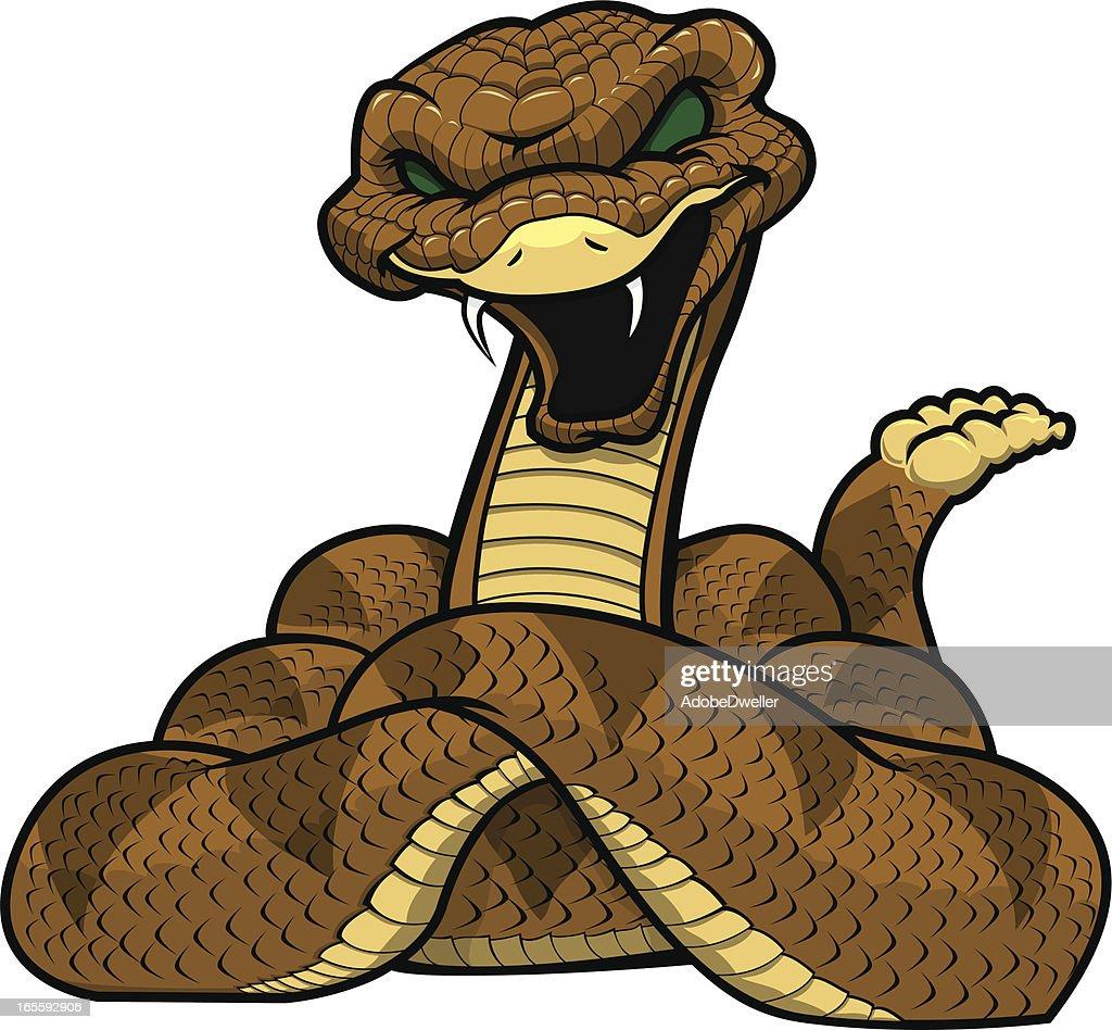 rattlesnake mascot vector art getty images