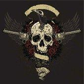 Raven Eating Skull Brains Collage
