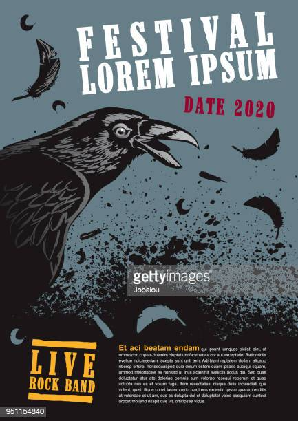 raven poster template - poster stock illustrations