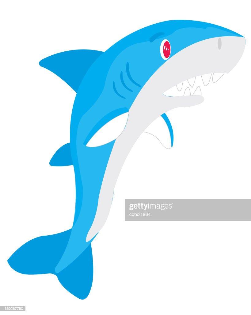 Ravenous fish shark