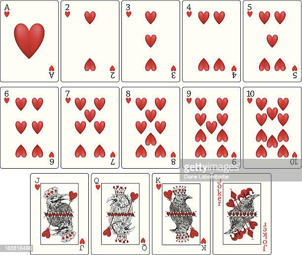 Ravens Playing Cards - Hearts Suit