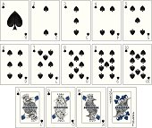 Ravens Playing Cards - Spades Suit