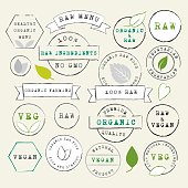 Raw and Vegan stamps set