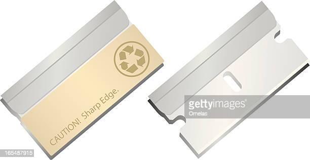 razor blades - razor blade stock illustrations, clip art, cartoons, & icons