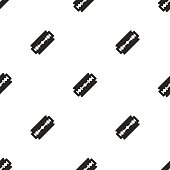 razor, vector seamless pattern