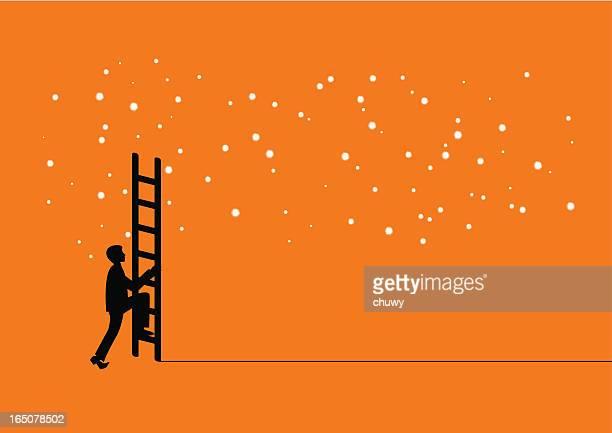 ilustraciones, imágenes clip art, dibujos animados e iconos de stock de llegar a la luz de las estrellas - chuwy