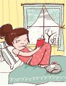 Read book on rainy day