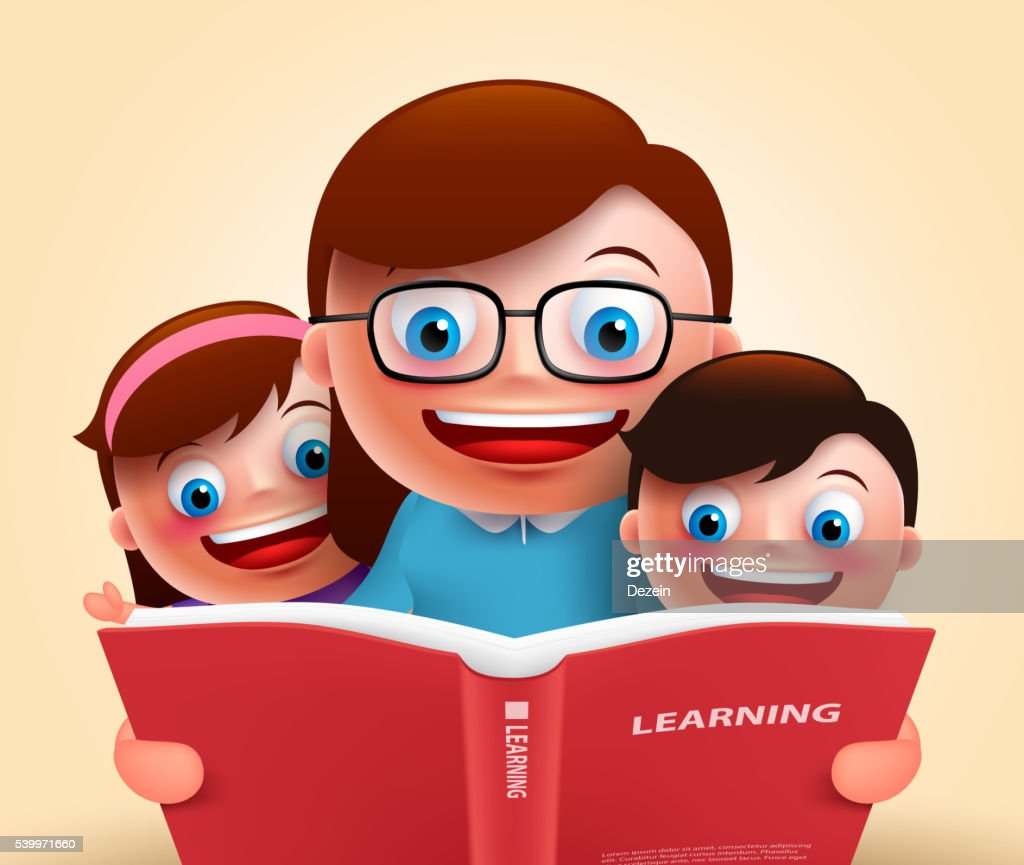 Reading book for story telling by teacher and kids