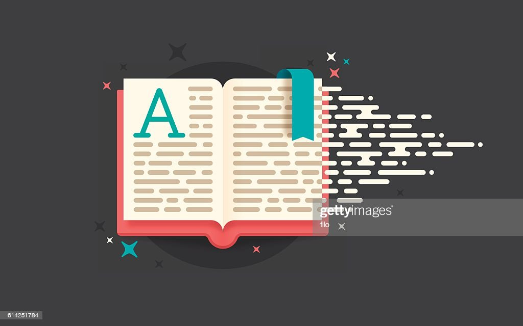 Reading Book : stock illustration
