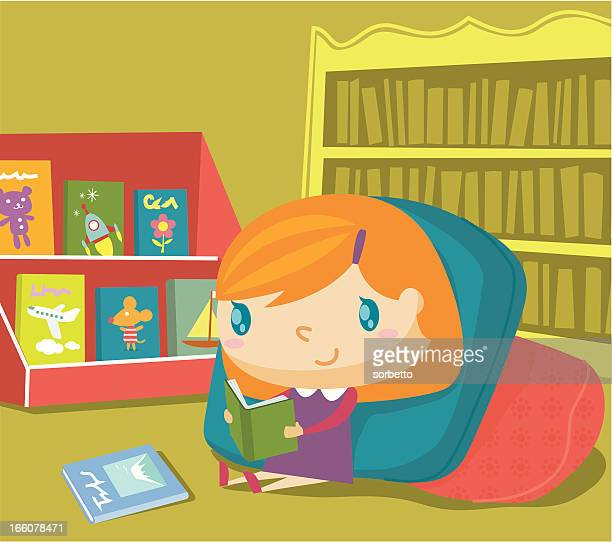 reading corner - library stock illustrations