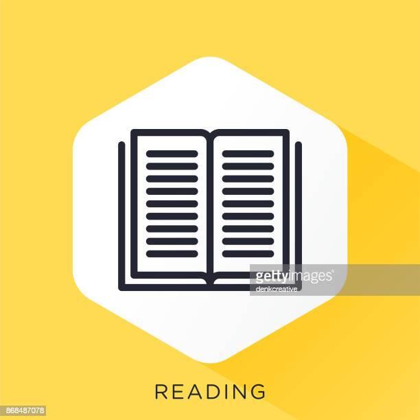 reading-symbol - enciclopedia stock-grafiken, -clipart, -cartoons und -symbole