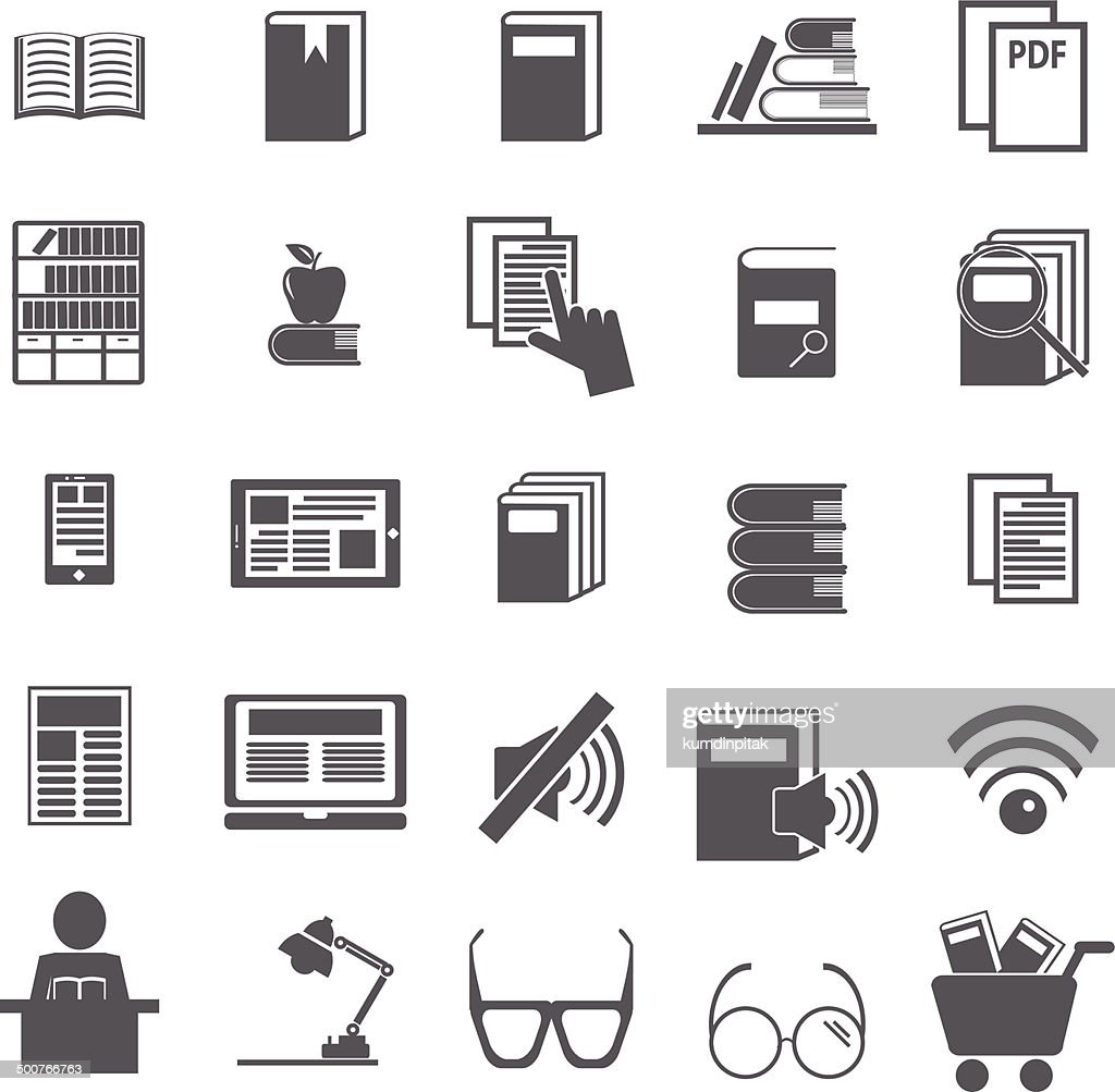 reading icons, mono vector symbols. vector Illustration EPS10