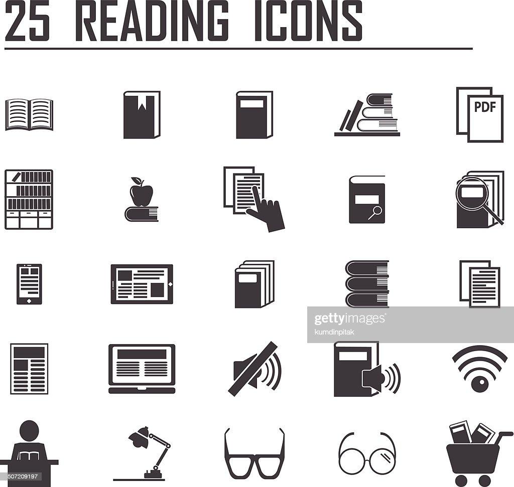 25 reading icons