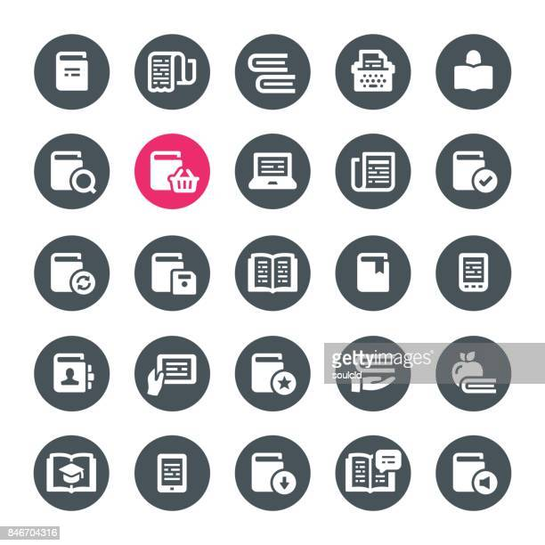 reading icons - bookstore stock illustrations, clip art, cartoons, & icons