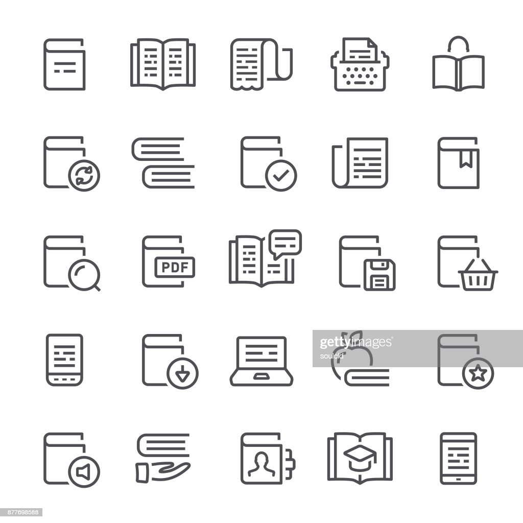 Iconos de lectura : Ilustración de stock